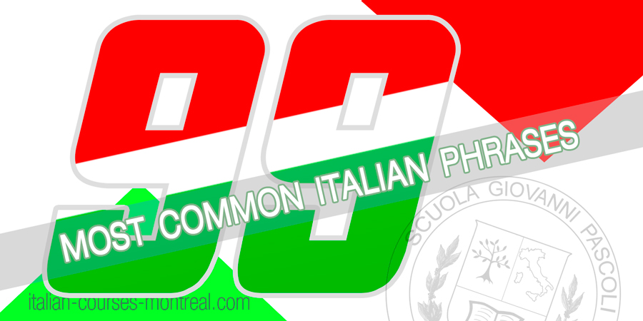 99 common italian phrases expressions